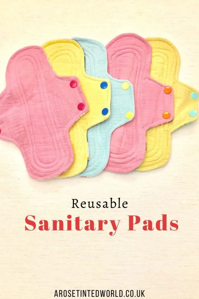 Reusable Sanitary Pads -Sewing Projects That You Can Sell - make money from what you sew with these ideas for brilliant & sellable DIY items. Links to Full step by step tutorials for each. #sewing #sewingtosell #sewingprojects #sellinghandmade #craftfairs #craftfairideas #sewingcrafts