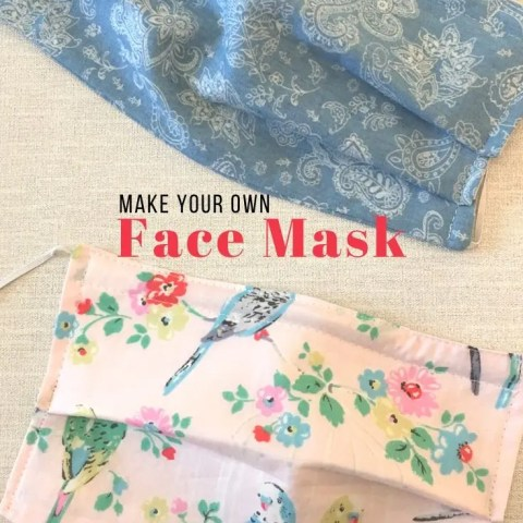 How To Sew A Face Mask (With A Filter Pocket)