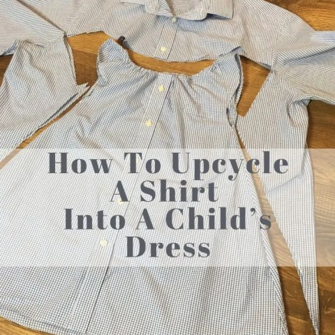 How To Upcycle A Shirt Into A Child's Dress