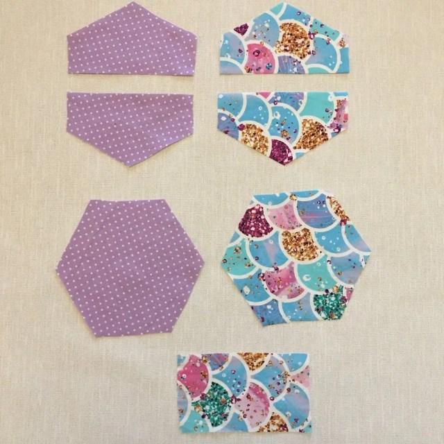 Making Hexagon Pouches 2