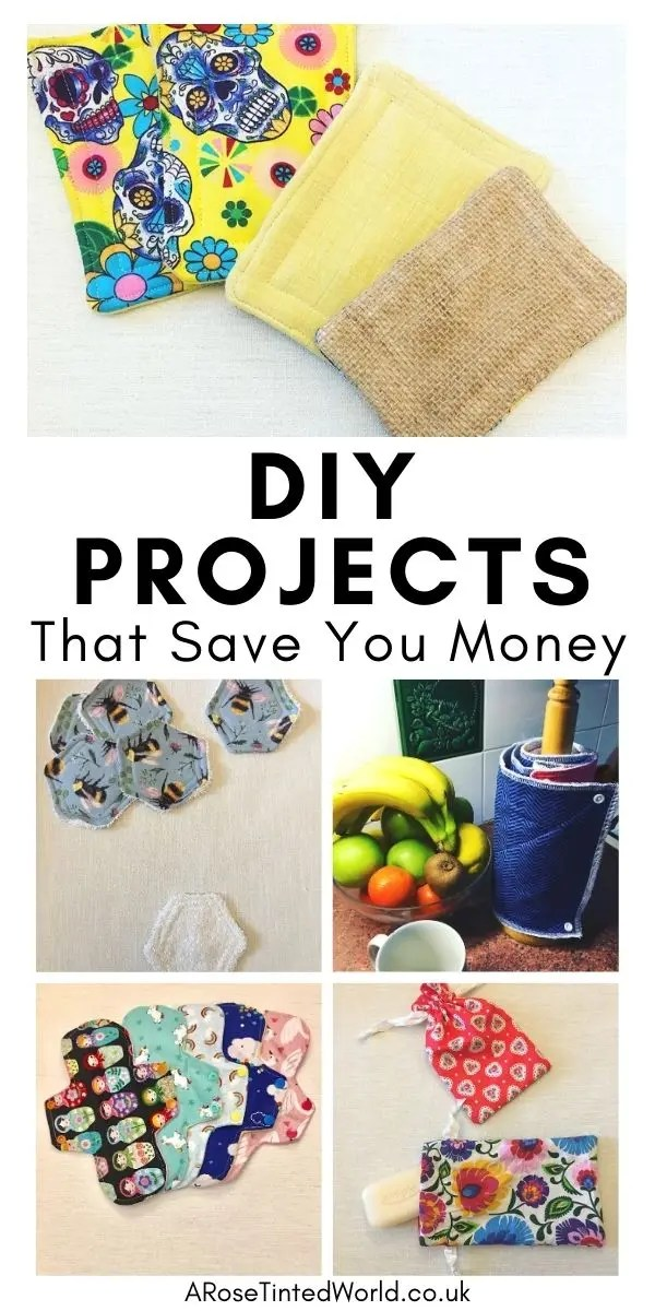 DIY Projects You Can Make At Home To Save Money - stop buying expensive disposable items and make these reusable ideas instead. Great ideas for items that you can make yourself to use around the home and save cash. Easy making and sewing craft projects for frugal living. Money saving makes for ecofriendly and sustainable living. Upcycling, repurposing and recycling ito create useful items around the home. #diyprojects #moneysavingprojects #sewing #easysewingprojects
