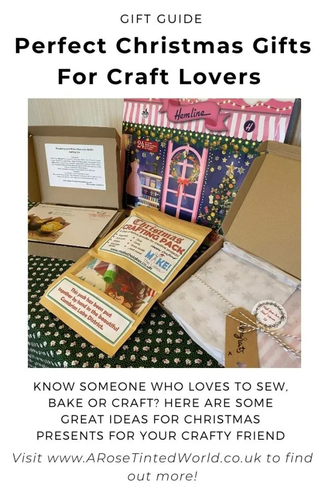 Perfect Christmas Gifts For Craft Lovers - Know someone who loves to sew, bake or craft? Struggling to find an ideal present? Here are my ideas for some of the best presents for crafty sewists, craft enthusiasts and keen bakers out there. Lovely little gifts and stocking fillers that crafters of all ages will enjoy. Craft kits, sewing tools, advent calendars. A guide to finding the perfect inspiring crafting gift.