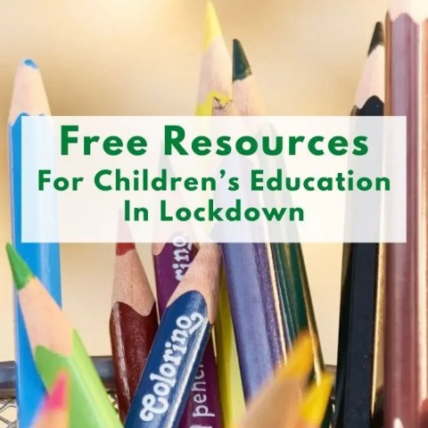 Free Resources For Children's Education In Lockdown