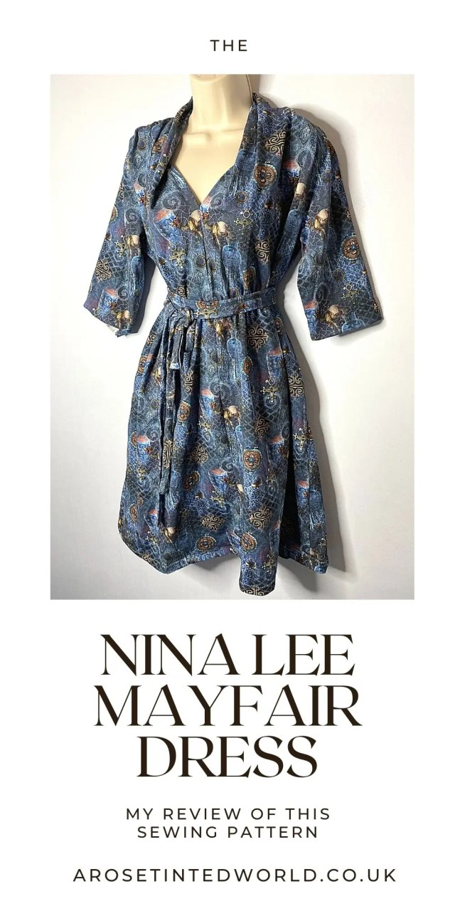 The Nina Lee Mayfair Dress pattern. What did I think of it? And would I make it again? Read on to find out! The Nina Lee Mayfair is a dress pattern for intermediate sewists in my opinion. Not suitable for novice or beginners. It is a pattern for stretch or jersey fabrics.