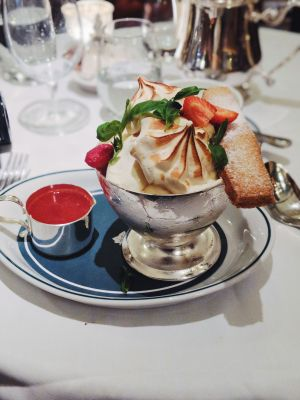 Strawberry meringue at The Ivy Winchester