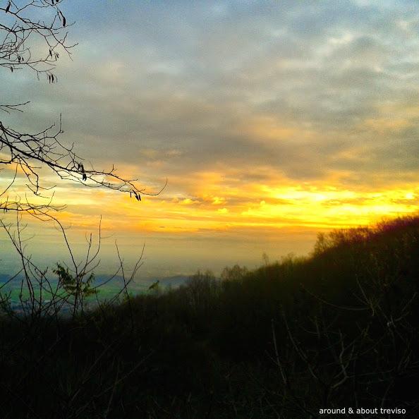 tramonto dalla madonna del cavolo