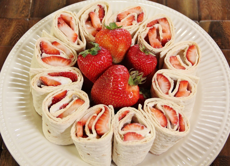 Strawberry Cream Cheese Pinwheels Around My Family Table