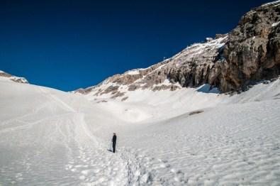 ganz schön viel Schnee und Franzi