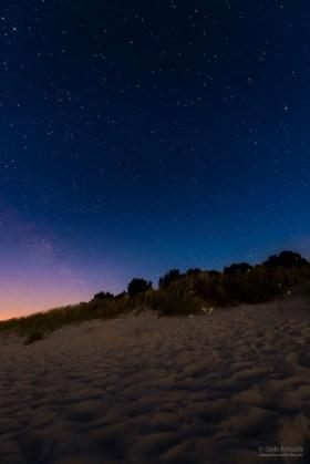 Strand auf Usedom bei Nacht