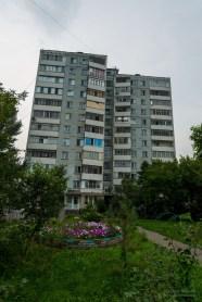 Sozialistische Bauten in Omsk