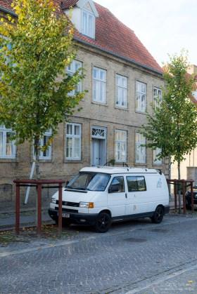 Unser Bulli in Christiansfeld (Unesco)