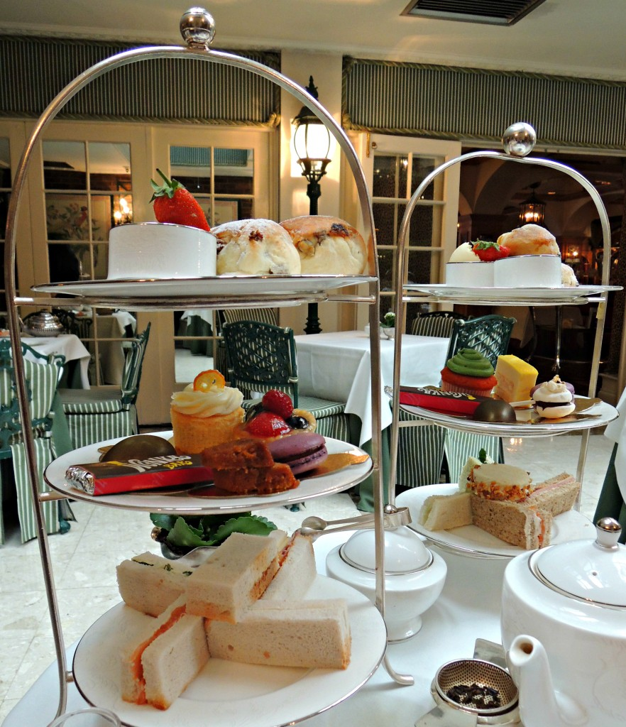 the chesterfield hotel mayfair charlie and the chocolate factory gluten free afternoon tea cake stand