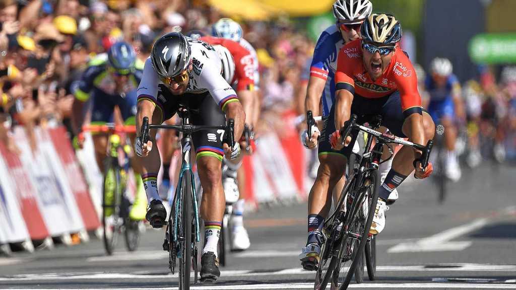 Peter Sagan llegando a la meta