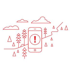ANGi es una baliza de seguridad. Si te lastimas, ANGi avisa a tus contactos de emergencia que has tenido un accidente y les envía tu ubicación.