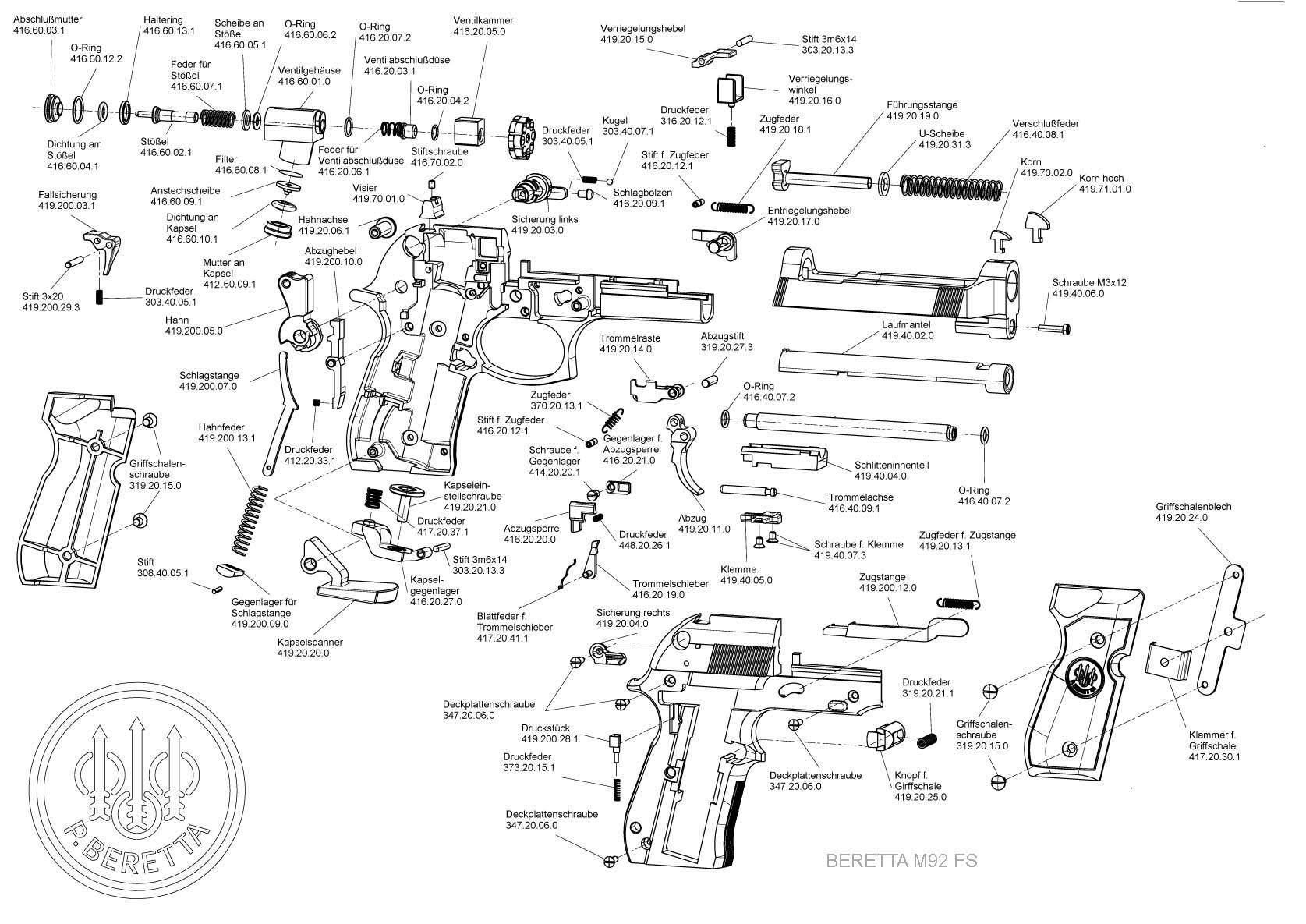 Pistolet Beretta 92fs Noir Cal 4 5mm A Plomb 3 5 Joules