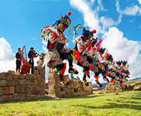 Danzantes en Complejo de Uchkus Inkañan - DIRCETUR Huancavelica
