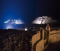 Caral Iluminado - Zona Arqueológica de Caral