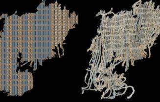 Los investigadores encontraron hilos de color azul que decoran una tela de rayas hallada en el sitio Huaca Prieta de Perú. (SCIENCE PARA LN)