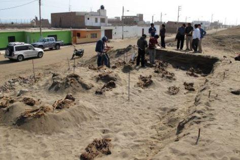 Inician nueva investigación arqueológica en sitio Las Llamas, lugar de hallazgo de niños sacrificados