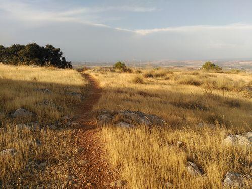 sendero con vistas al valle del Guadalquivir