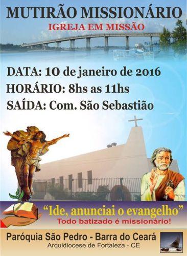 MUTIRÃO MISSIONÁRIO - BARRA DO CEARÁ