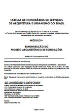 IAB - Tabelas de Honorários de Serviços de Arquitetura e Urbanismo do Brasil