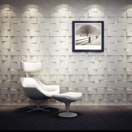 Ideas de decoración de paredes con paneles 3d - bloque geometrico 2