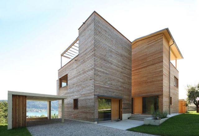 arquitectura con madera CLT_Casa unifamiliar Wörth
