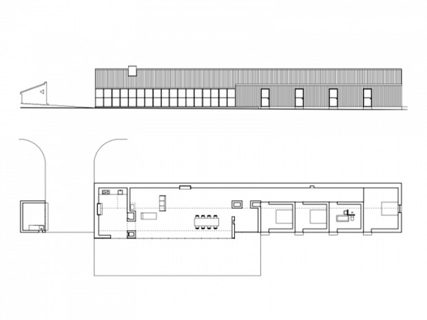 Arquitectura_stable-acre-david-kohn-architects_ planta alzado y seccion