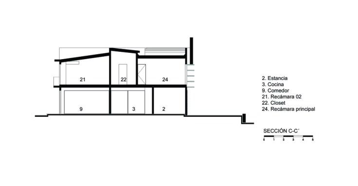 Casa E - Agraz Arquitectos / Corte C-C