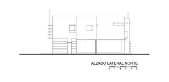 Casa E - Agraz Arquitectos / Alzado Lateral Norte