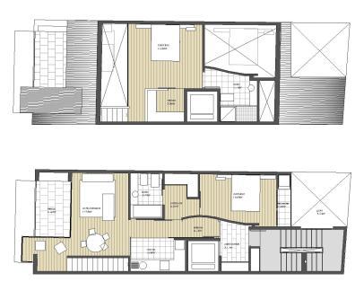 Edificio de Viviendas San Luis - a.f. abeijón-fernandez arquitectos / Planta Bajo Cubierta y Atico