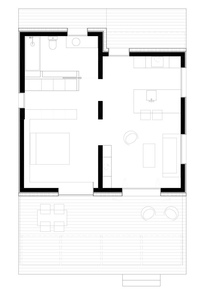 Casa de invitados en la montaña - dom arquitectura