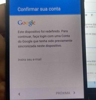 Como desbloquear conta sincronizada Google