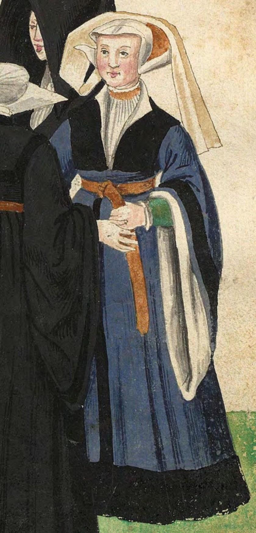 1540s Cologne Burger. Fig. 5, plate 45r, Codice de trajes, Christoph Weiditz. BNE bdh0000052132