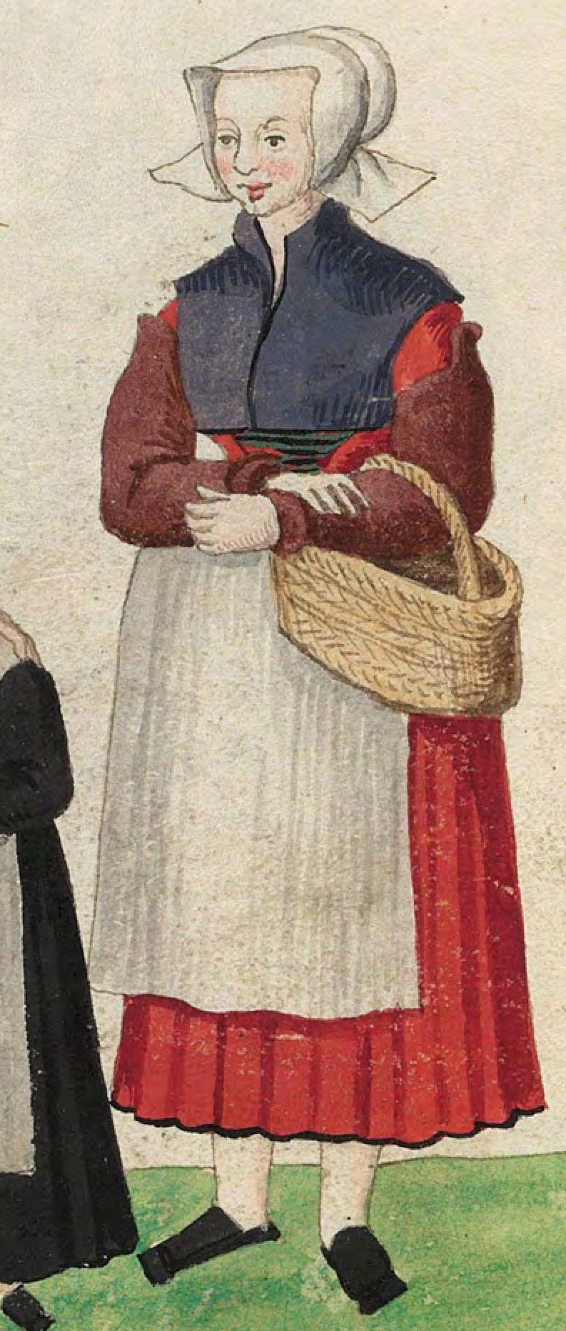 1540s Cologne Burger. Fig. 3, plate 45v, Codice de trajes, Christoph Weiditz. BNE bdh0000052132