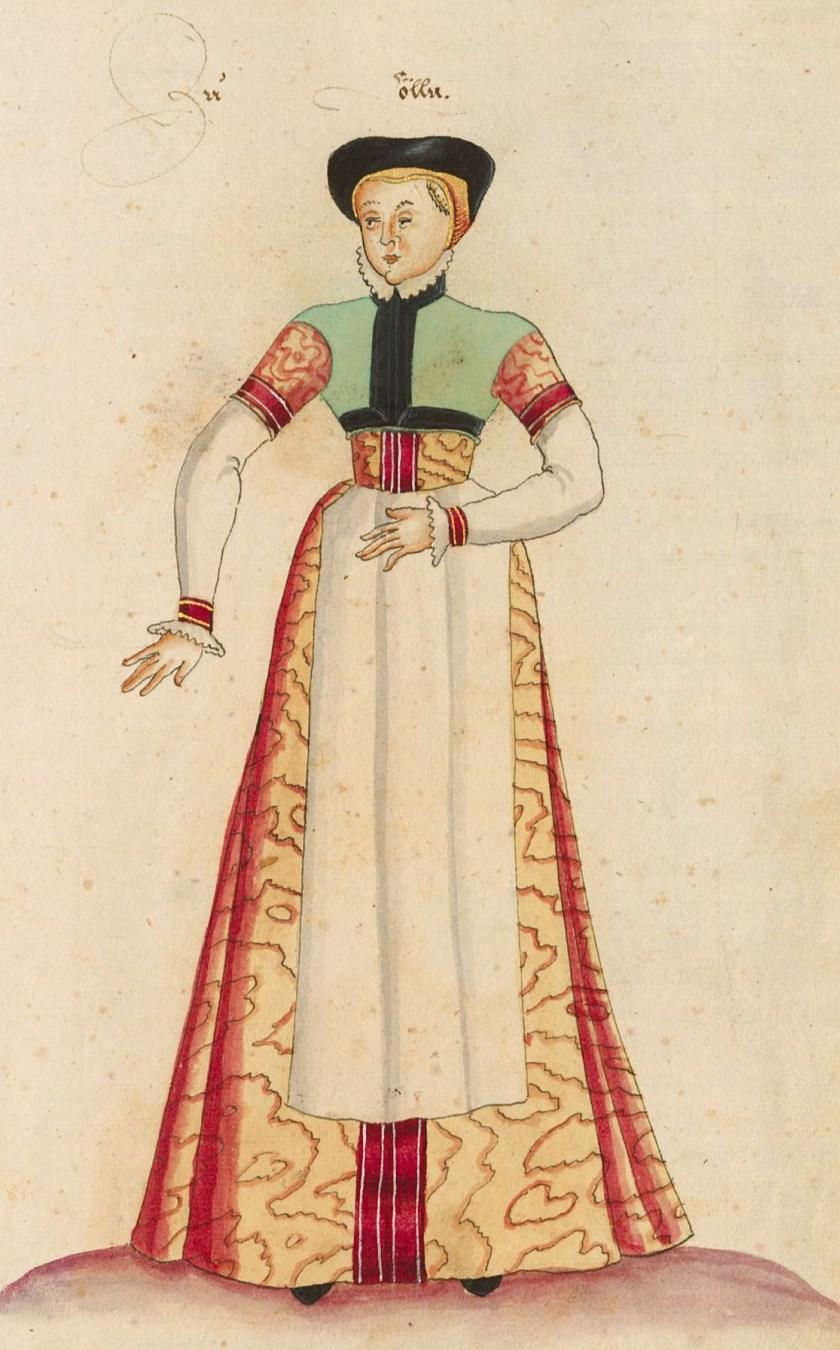 after 1575, Cologne. Page 45r, Kostüme der Männer und Frauen [...] BSB Cod.icon. 341