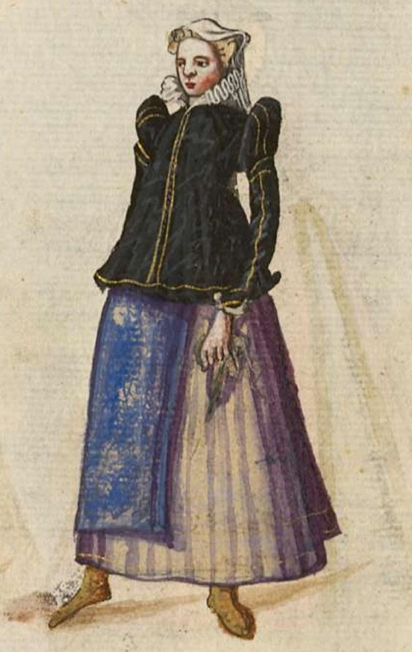 after 1575, Cologne. Fig. 2, ill. 60, Kostüme und Sittenbilder des 16. Jahrhunderts [...] BSB Cod.icon. 361
