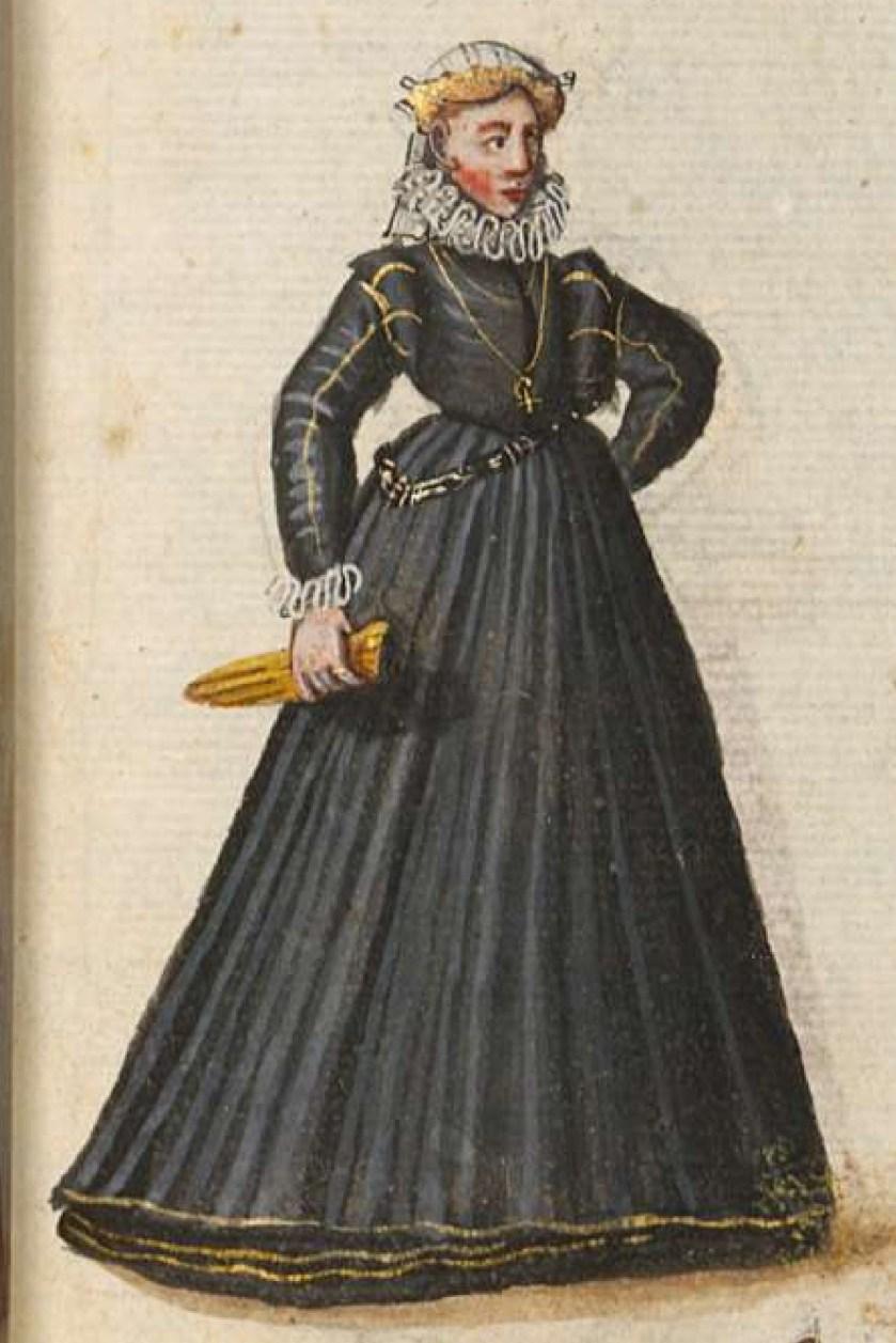 after 1575, Cologne. Fig. 1, ill. 61, Kostüme und Sittenbilder des 16. Jahrhunderts [...] BSB Cod.icon. 361