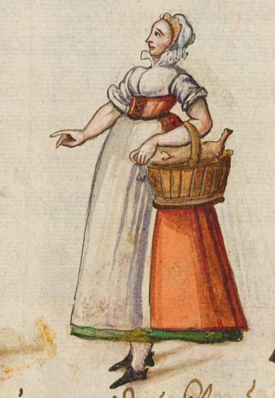 after 1575, Cologne. Fig. 2, ill. 61, Kostüme und Sittenbilder des 16. Jahrhunderts [...] BSB Cod.icon. 361