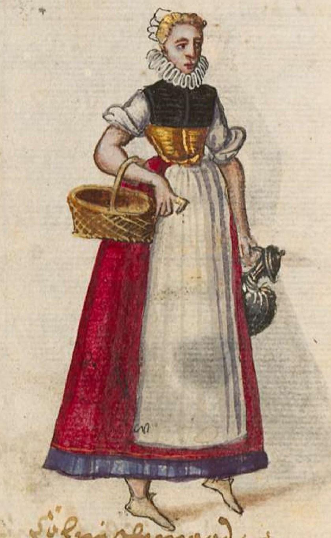 after 1575, Cologne. Fig. 3, ill. 54, Kostüme und Sittenbilder des 16. Jahrhunderts [...] BSB Cod.icon. 361