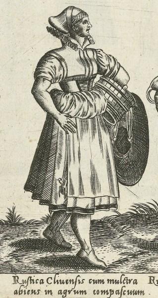 1581 Cleves, rural. Fig. 11, page 18, Omnium pene Europae, Asiae, Aphricae, Americae gentium habitus [...] de Bruyn. Rijsmuseum, BI-1895-3811