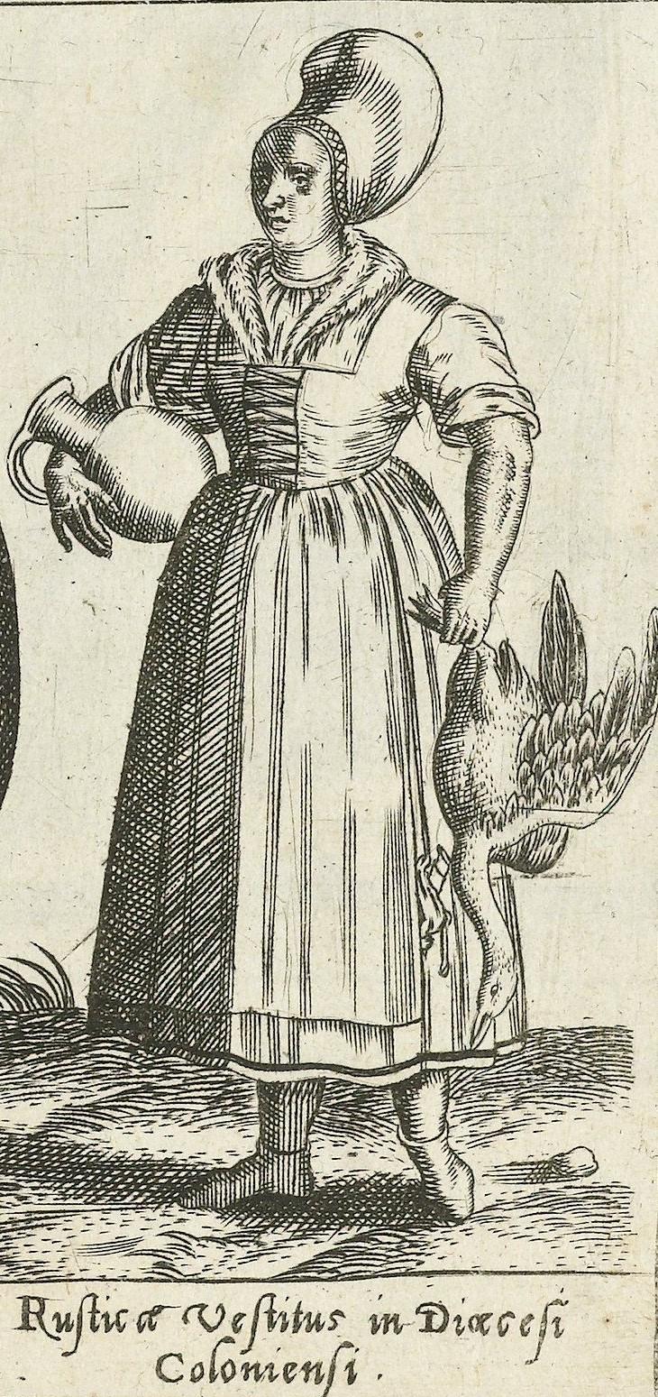 1581 Cologne, rural. Fig. 12, page 18, Omnium pene Europae, Asiae, Aphricae, Americae gentium habitus [...] de Bruyn. Rijsmuseum, BI-1895-3811