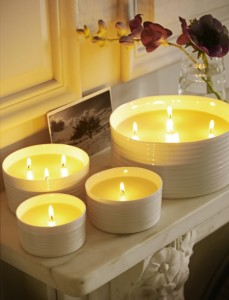 Arredamento country chic candele