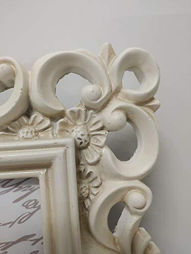 Angelica Home & Country Cornice portafoto in Stile Barocco Shabby Chic 13x18 Verticale in Resina Avorio