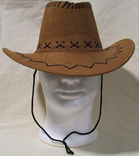 CAPPELLO COWBOY CAMMELLO texano camperos feste party AFFARE scamosciato MODA