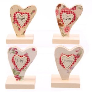 Country Kitchen Clip portafoto segnaposto a forma di cuore stile country
