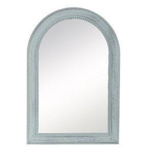 DRULINE Specchio Muro Shabby Chic Stile Country Specchio in Legno Specchio Vintage - Verde Menta