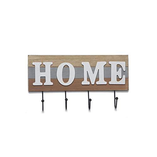 Succeedw Wall Coat Racks Appendiabiti in Legno, Country Farmhouse Style Facile da Montare e USA Adatto per Cappotto, Cappello, Asciugamano, Portafogli, Chiavi