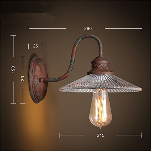 LxAZKx E27 Lampada Da Parete Kc Country Cafe Scala In Ferro Battuto
